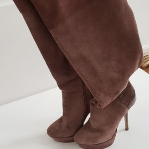 STEVE MADDEN Over The Knee Leather Boots 6 1/2